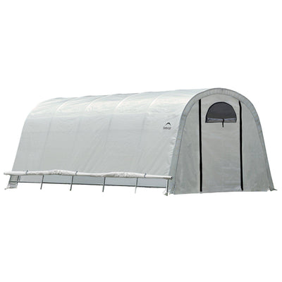 ShelterLogic GrowIT Heavy Duty Walk-Thru Round Greenhouse, 12 x 20 x 8 ft.