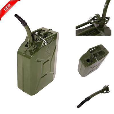 5 Gal Gas Storage Tank Jerry can Emergency Backup Gas Caddy Green color