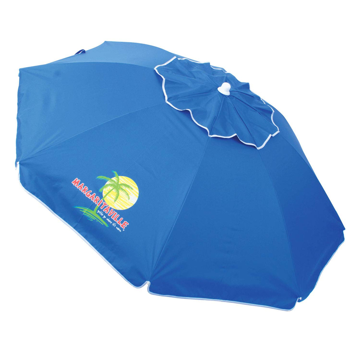 Margaritaville WUB76MV-179-1 6.5 ft UPF 50 Plus Sun Protection Tilt Umbrella- Anchor