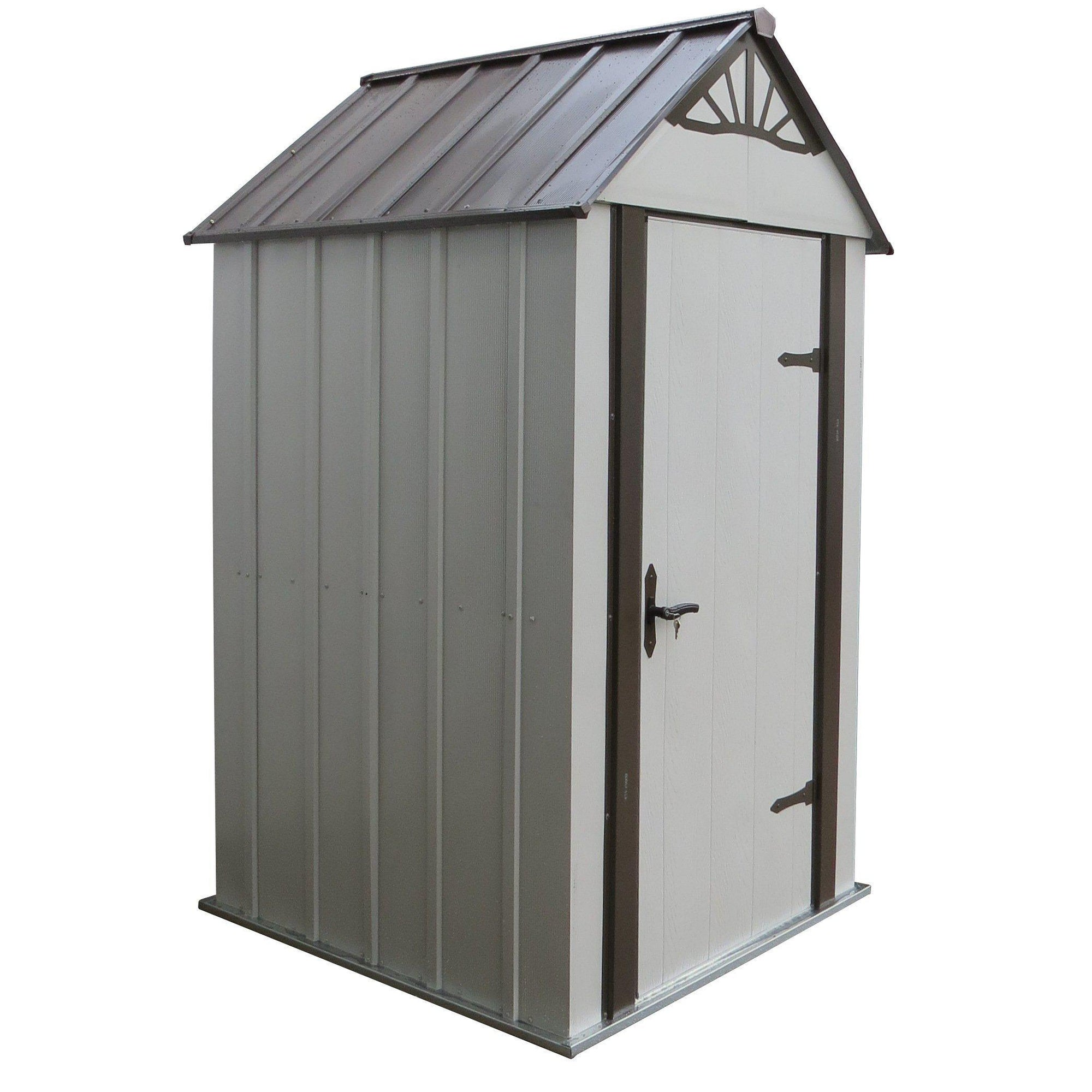Arrow Designer Metro Shed, Java/Sand, 4 x 4 ft.