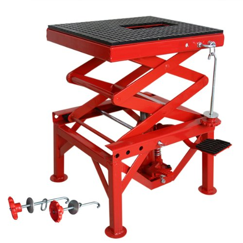 300-Pound Center Motorcycle Stand Scissor Jack Lift