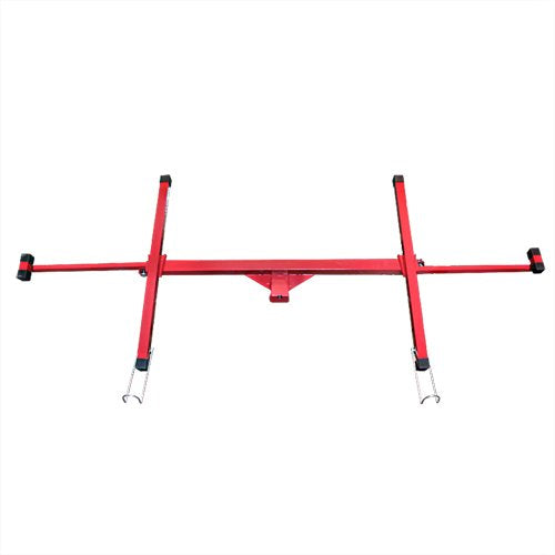 Drywall 11' Rolling Panel Lift Hoist Dry Wall Jack Lifter Construction Tools, Large, Red