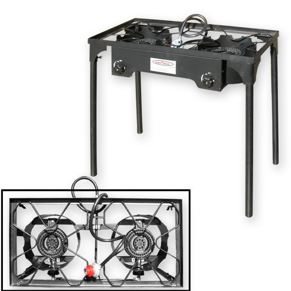 Portable High Pressure Twin Burner with Stand