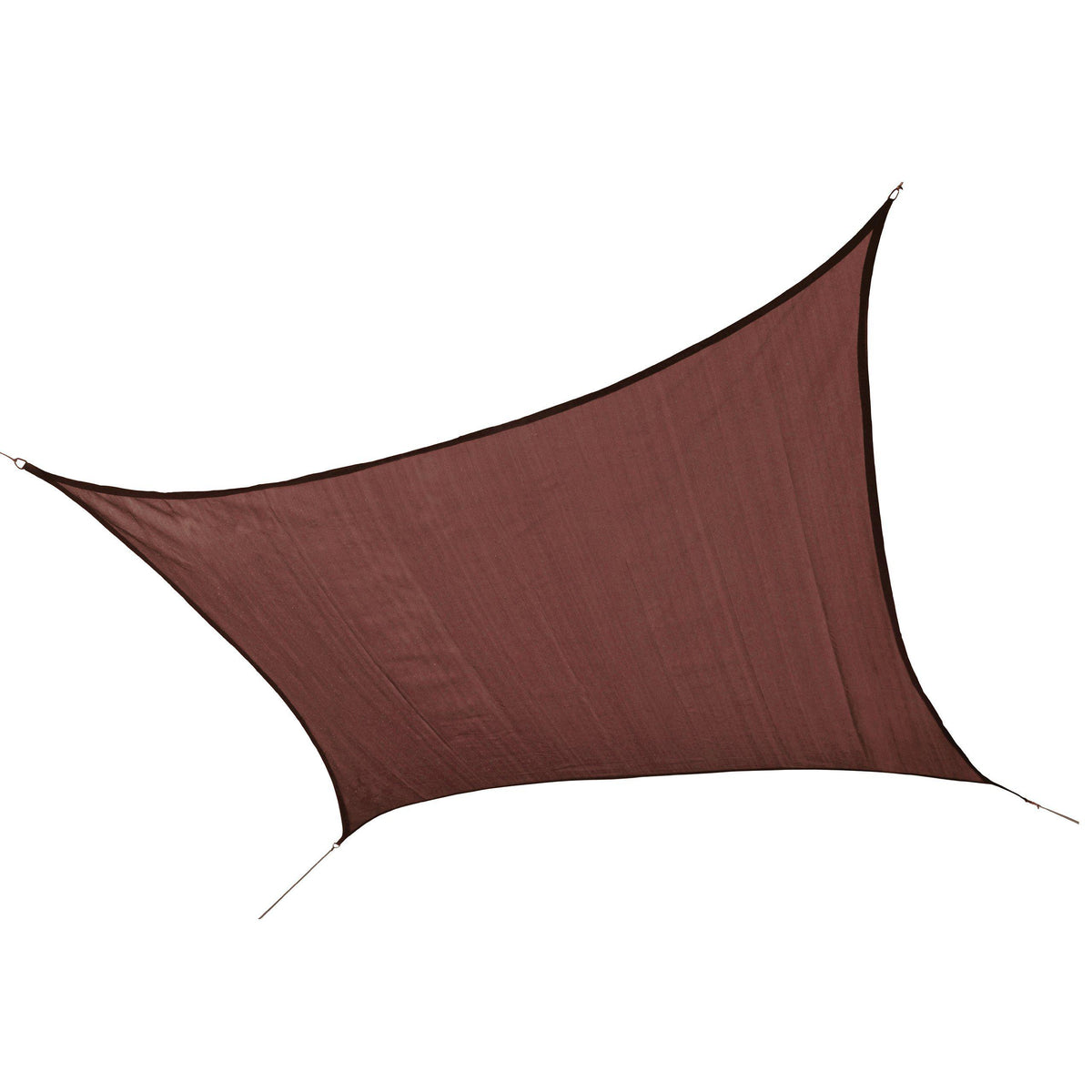 ShelterLogic 25672 230 GSM Square Shade Sail, 12-Feet, Terracotta
