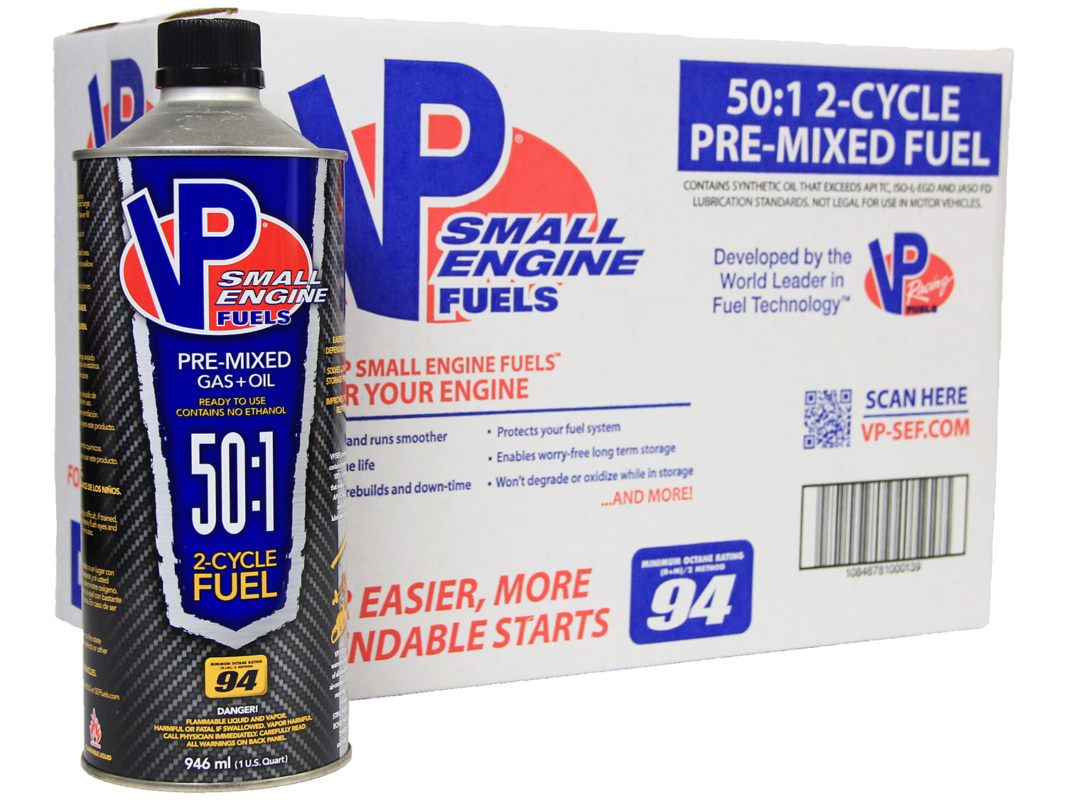 Fuel, Premix 50:1, 2-Stroke Gas/Oil 94 Octane