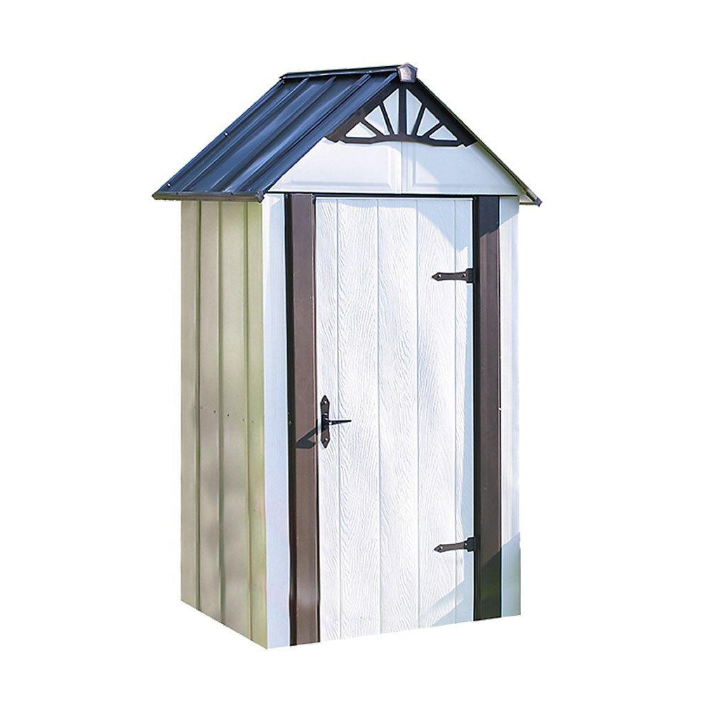 Arrow Designer Metro Shed, Java/Sand, 4 x 2 ft.