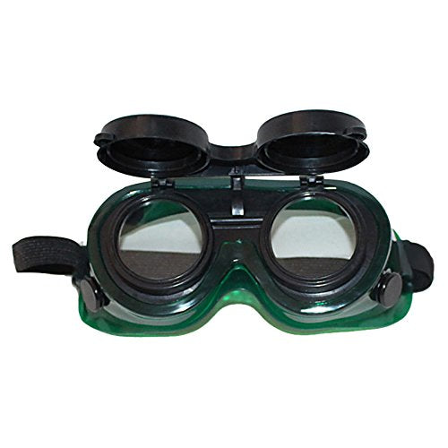Steampunk Welding Goggles Oxy Cutting Welders Safety Goggles Glasses Flip Up Clear Lenses