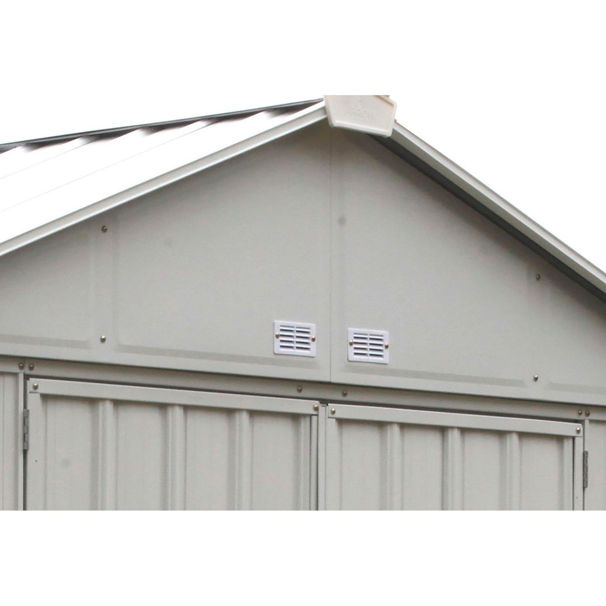 Arrow EZEE Shed High Gable Steel Storage Shed, Cream, 8 x 7 ft.