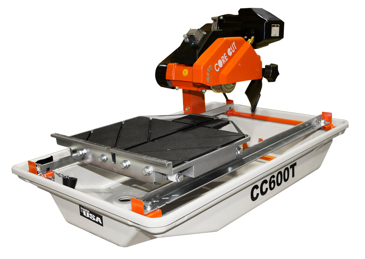 "CC600T, 3/4 HP Electric Tile Saw with 7"" Blade Guard"