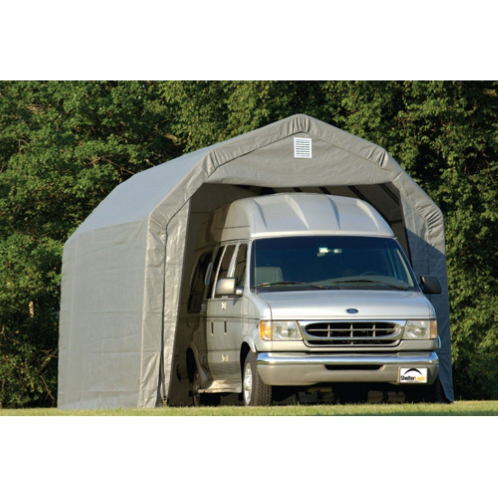 Barn 12 Ft. W x 20 Ft. D Shelter Color: Grey, Size: 9'