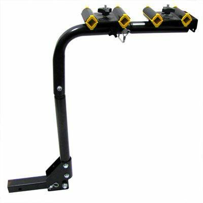 4 Bicycle Single Bar Swing Down Hitch Rack Heavy Duty
