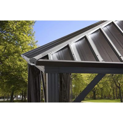 Dakota # 53 - Shelter 10'x12 'Steel roof, Nylon Screen