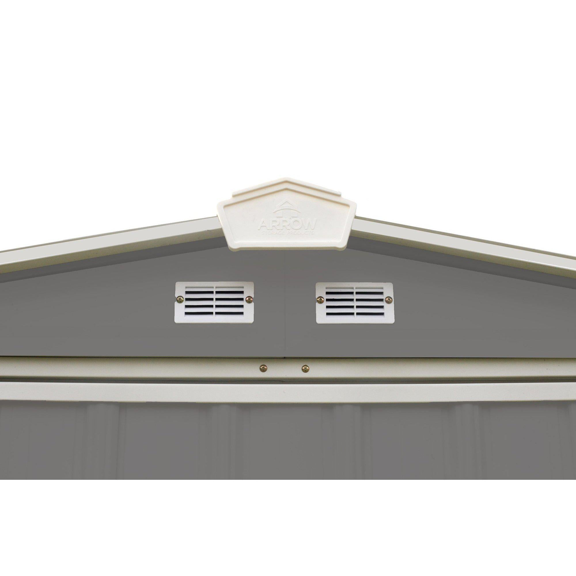 Arrow EZEE Shed Low Gable Steel Storage Shed, Charcoal/Cream Trim, 6 x 5 ft.