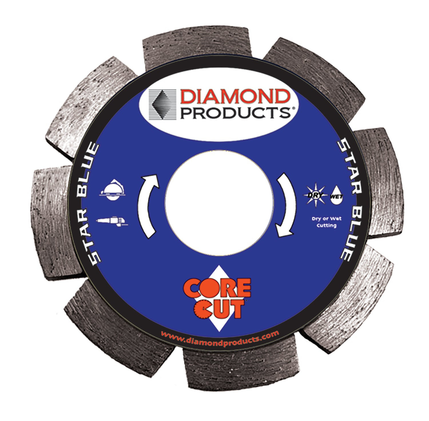 "4-1/2"" x .250 x 7/8"" Star Blue Tuck Point Blade"