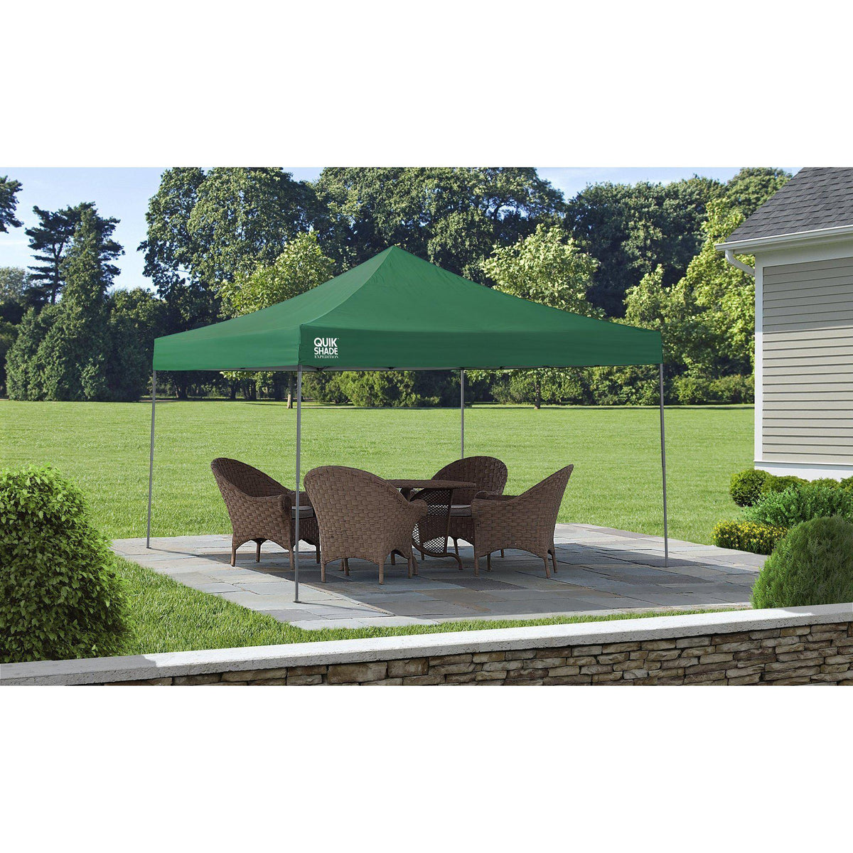 Quik Shade Expedition 12 x 12 ft. Straight Leg Canopy, Green