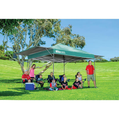 Quik Shade Solo Steel 10 x 17 ft. Straight Leg Canopy, Turquoise