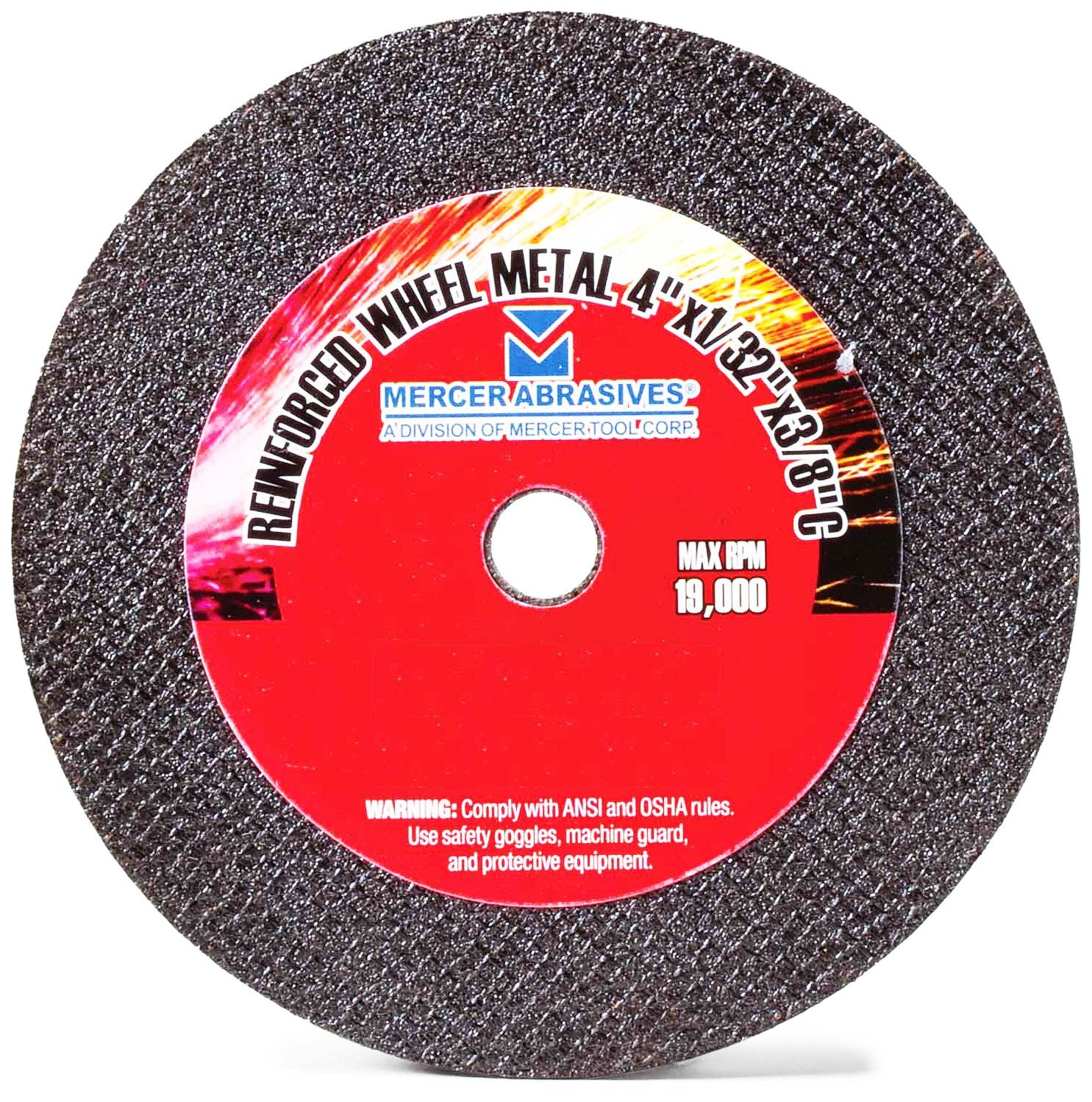 Mercer Abrasives 614150 - Small Diameter High Speed Fully Reinforced Cut-Off Wheels 4-Inch by 1/16-Inch by 5/8-Inch M,