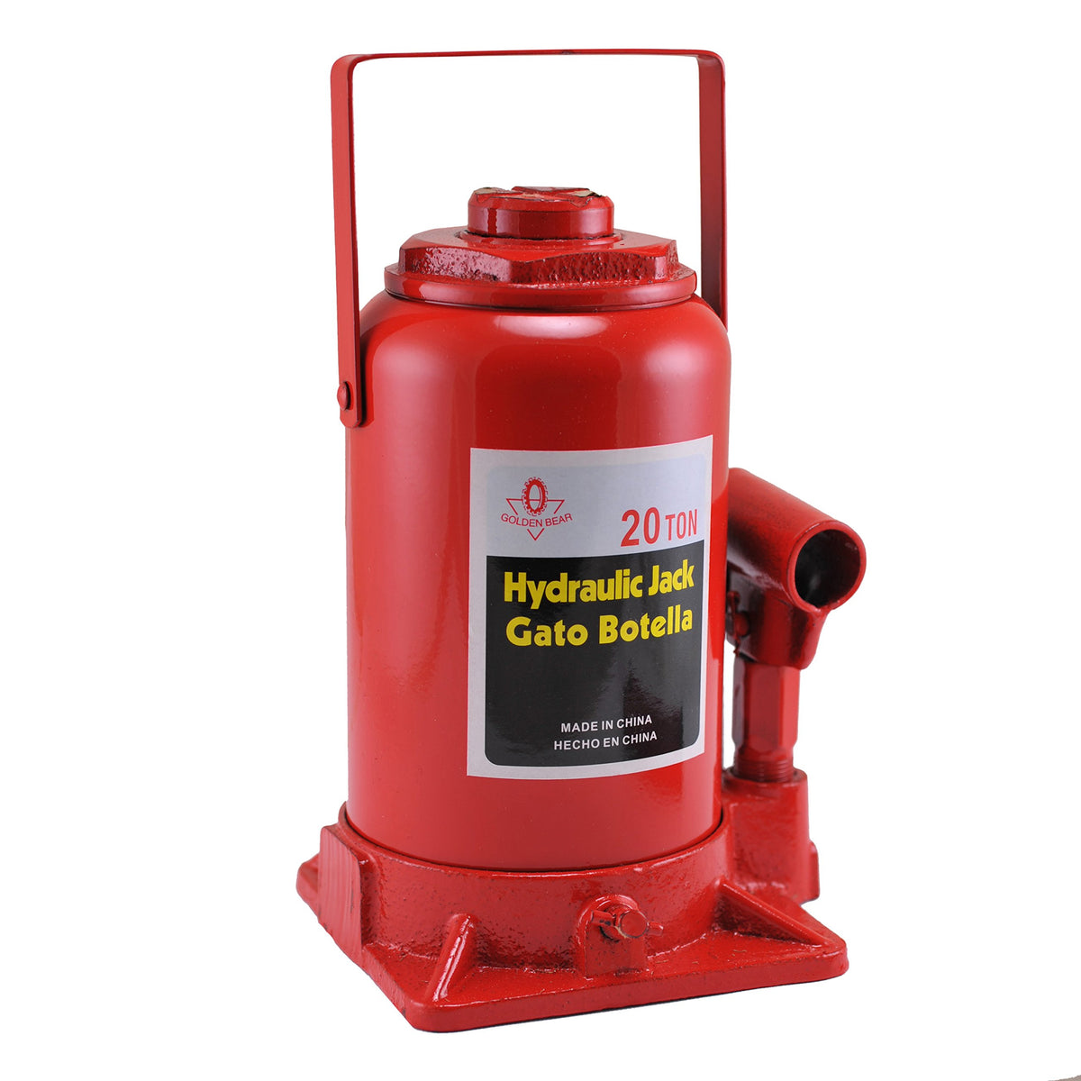 Hydraulic Bottle Jack, 20 Ton Capacity | High Lift, Heavy Duty