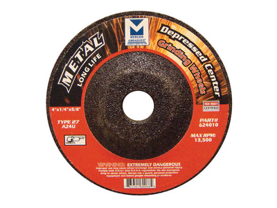 "10 PACK TYPE 27 DEPRESSED CENTER GRINDING WHEELS  SINGLE GRIT 4"" x 1/4"" x 5/8"""