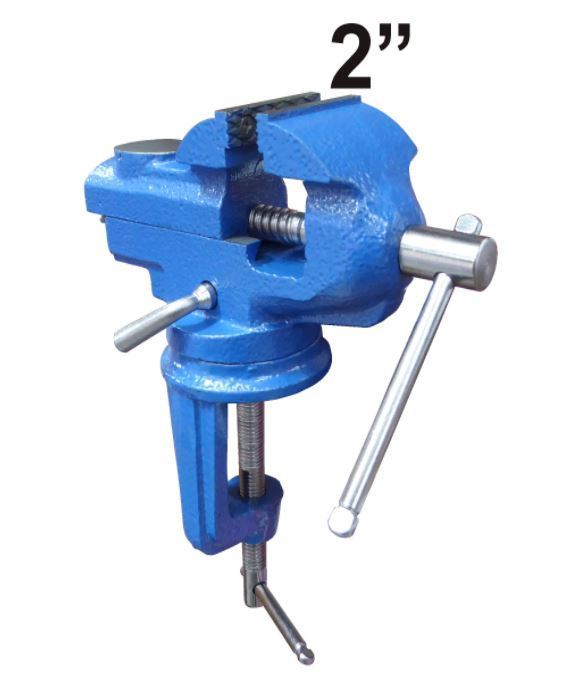 "2""  Swivel Bench Vise Clamp With Anvil Vice Hobby Tool Table Vise Type Cast Iron"