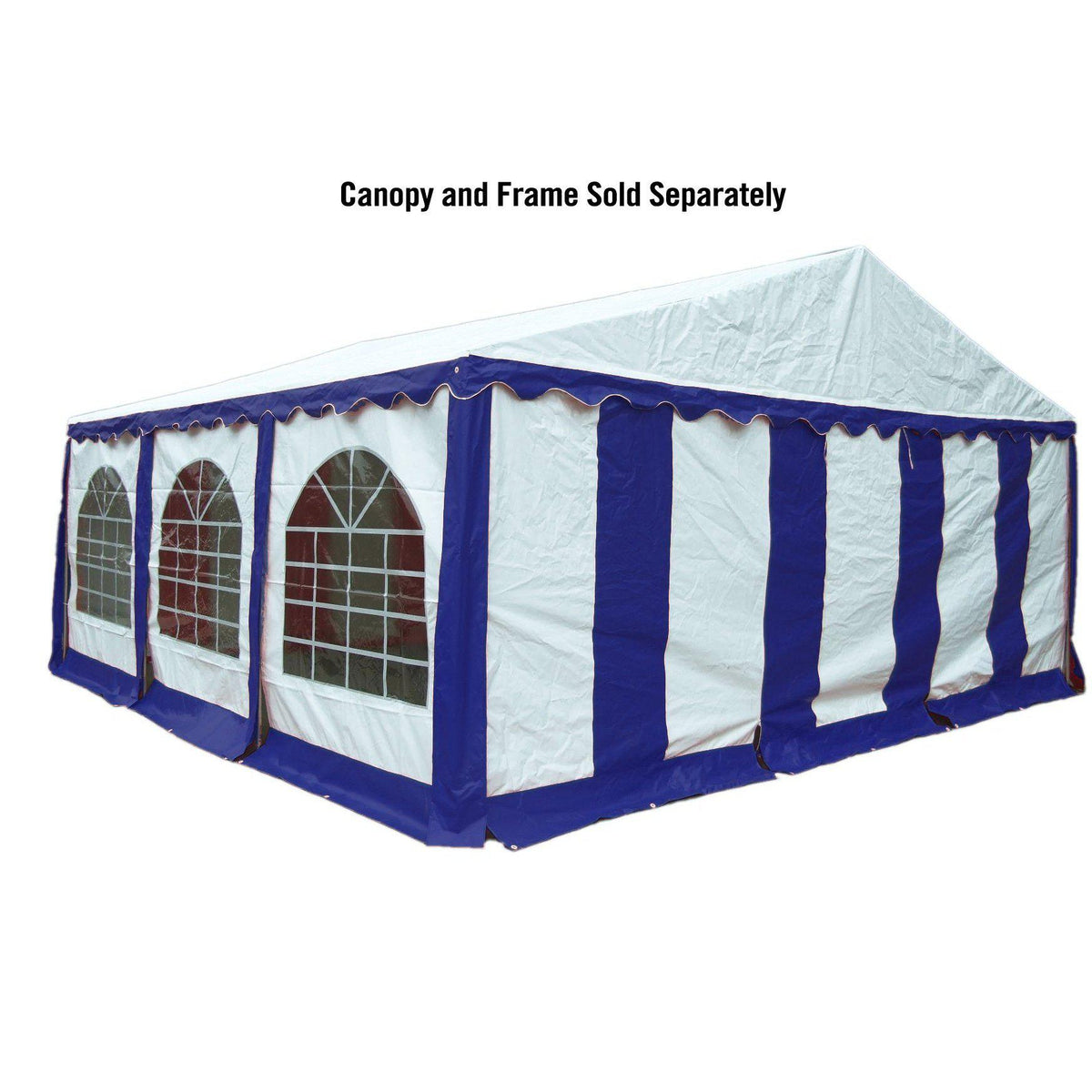 ShelterLogic Enclosure Kit with Windows, Blue/White, 20 x 20 ft. (Party Tent Cover and Frame Sold Separately)