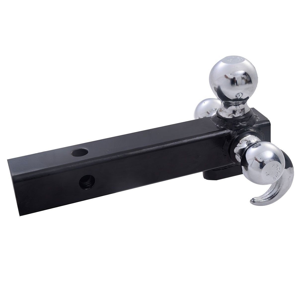 "Triple 3 Ball Trailer tow Hitch Receiver Mount 1 7/8"" 2"" 2 5/16"" Towing  w/ Hook"
