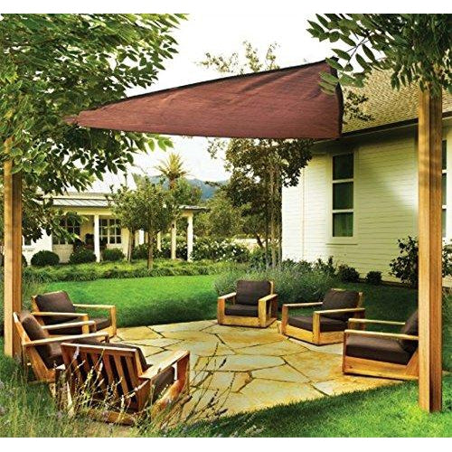 ShelterLogic Triangle Shade Sail, Terracotta, 16 x 16 x 16 ft.