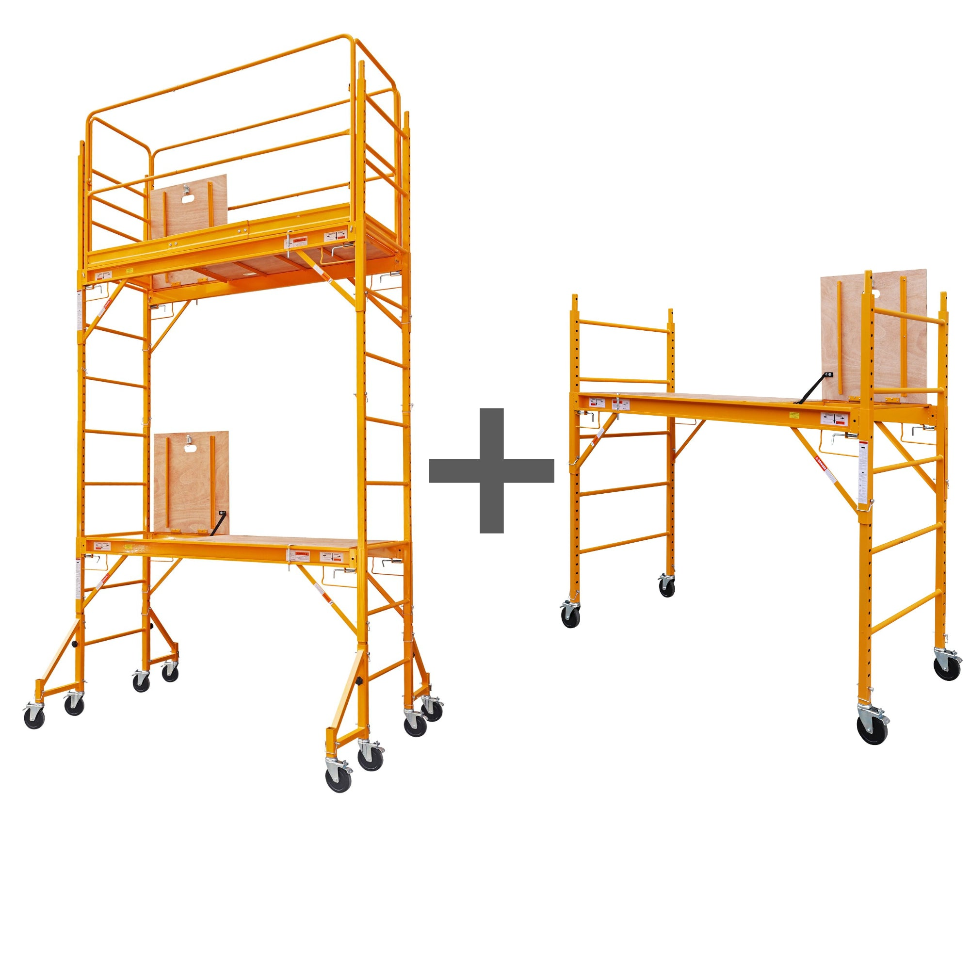 12 foot Hatch Platform Scaffold with safety rails and outiggers + 1 6 Foot Scaffold