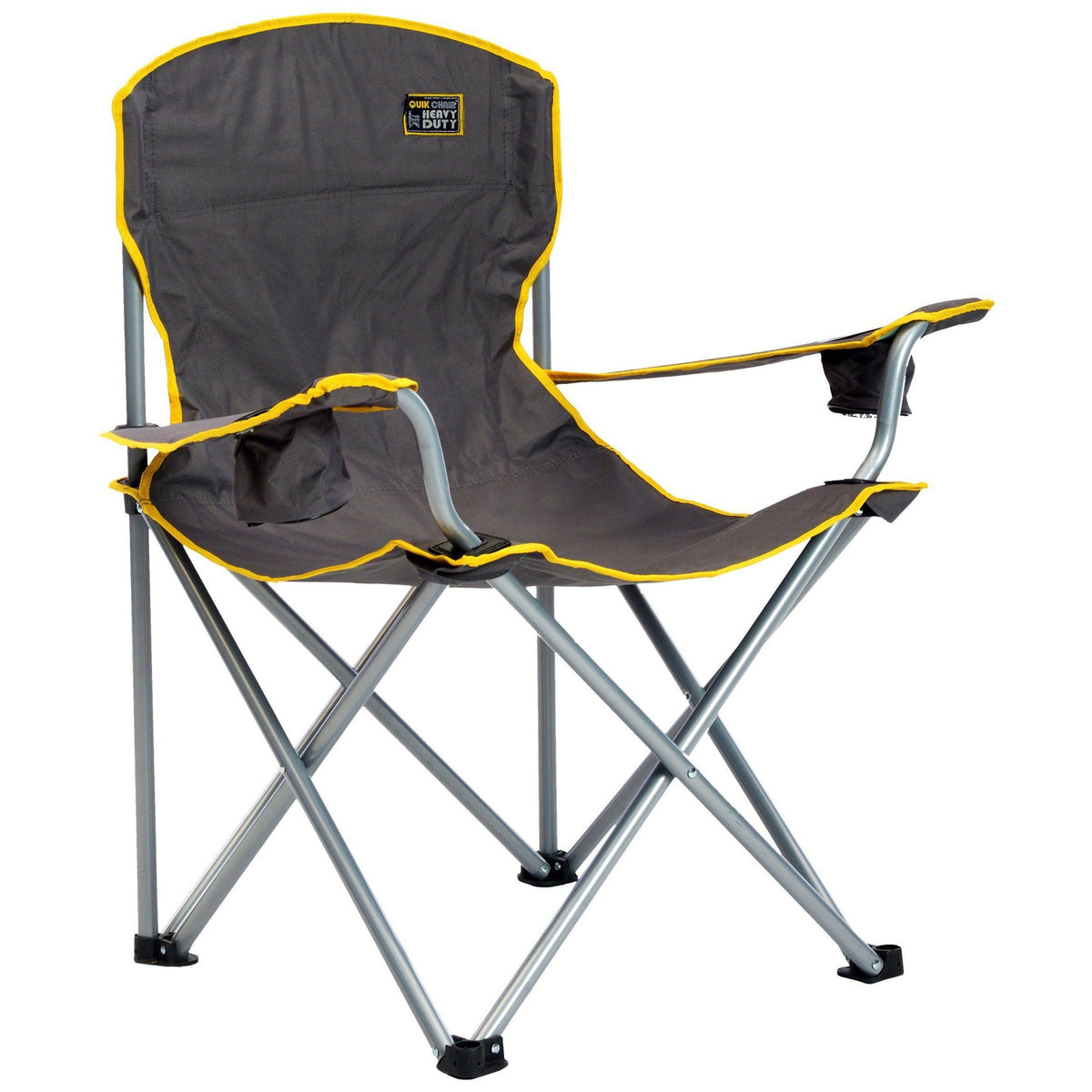 QuikShade 150239 Quik Chair Heavy Duty Folding Camp Chair - Grey