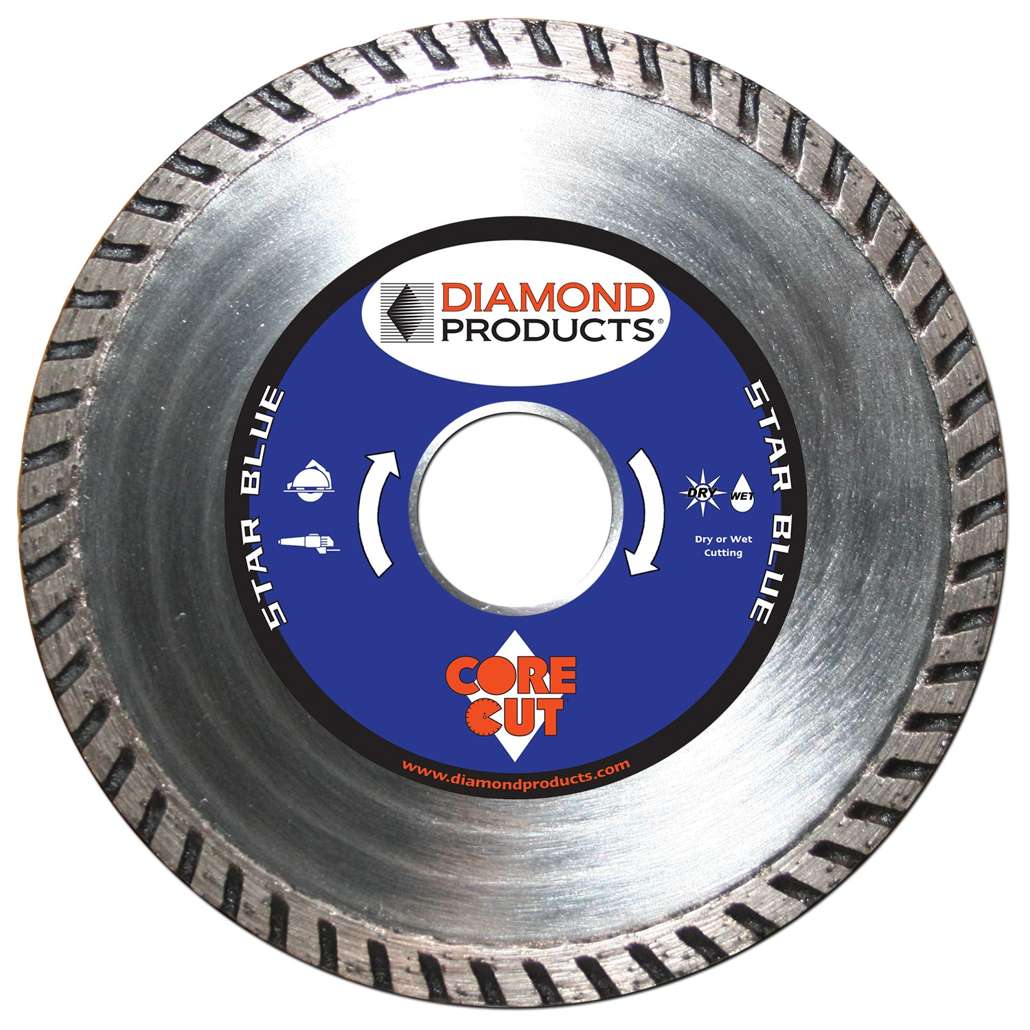 "4"" x .080"" x 7/8"" Star Blue Turbo Blade"
