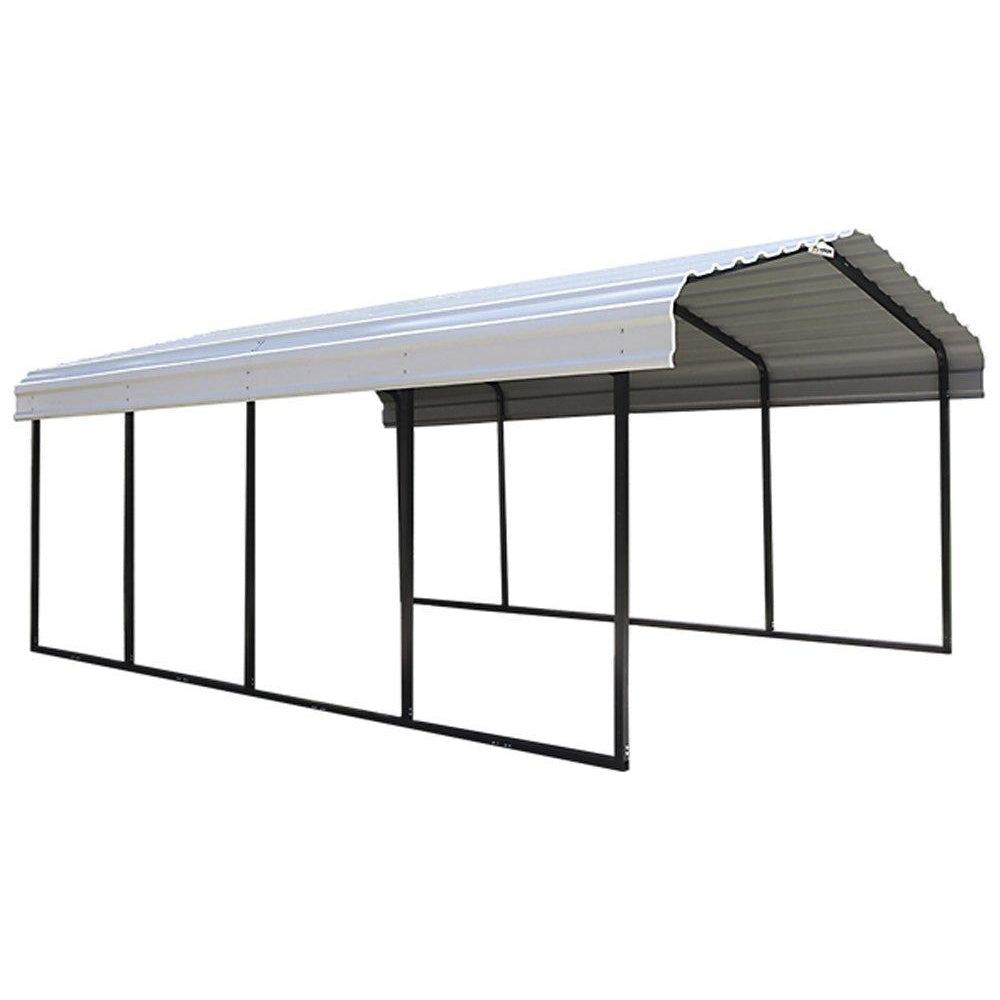"Arrow 29 Gauge Carport, Galvanized Steel Roof Panels, 12"" by 20"" by 7"""
