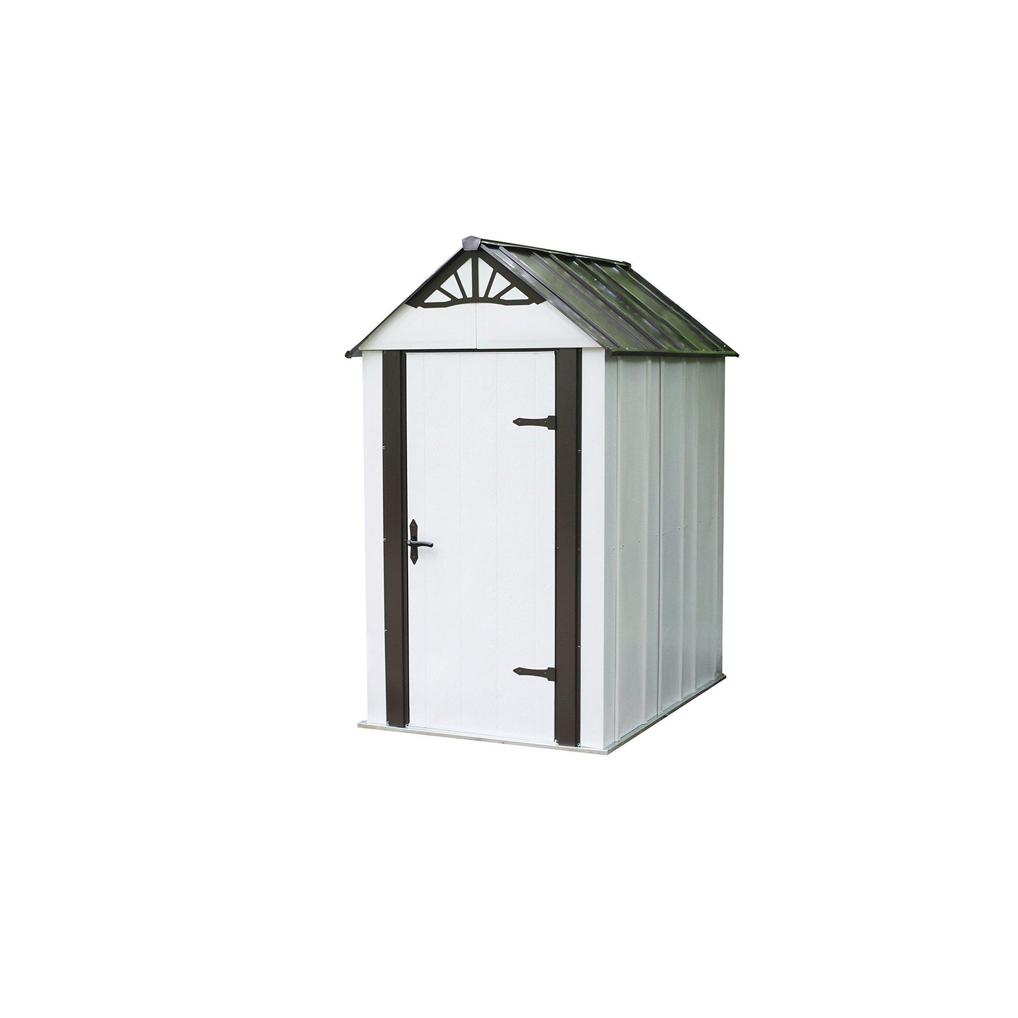 Arrow Designer Metro Shed, Java/Sand, 4 x 6 ft.
