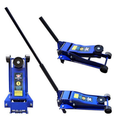 3-1/2 Ton Commercial Grade Low Profile Racing Floor Jack, Double Plunger