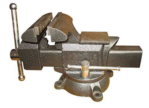 "Heavy-Duty Forged Steel Utility Vise 6-1/2"" with 360-Degree Swivel Base"