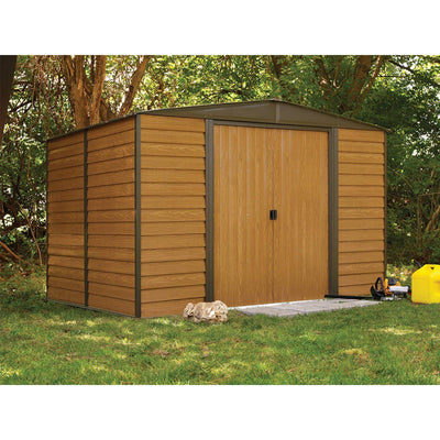 Arrow WR108 Woodridge EG, 10 by 8-Feet Steel Storage Shed, Neutral