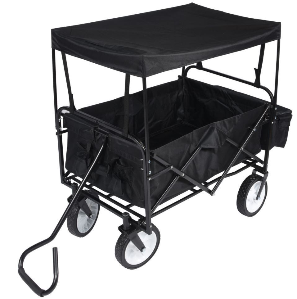 Collapsible Heavy Duty Portable Folding Pull Wagon