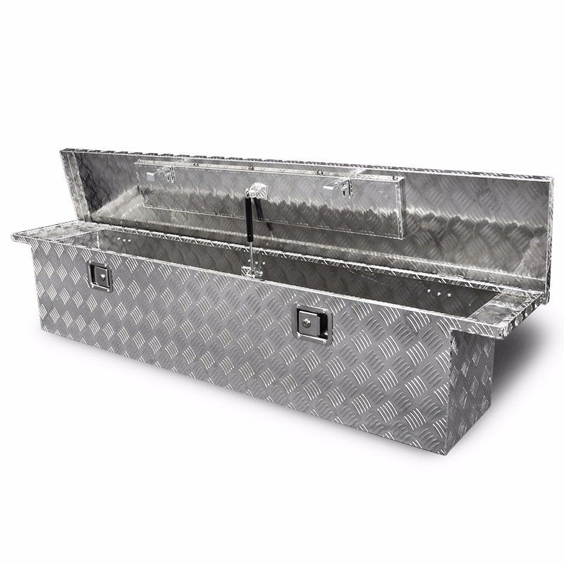 "71"" Aluminum Crossover Crossbed Truck Box Pickup Tool Box Trailer Storage"