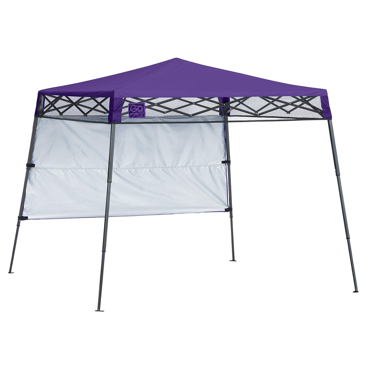 Quik Shade 7' x 7' Go Hybrid Pop-Up Compact and Lightweight Slant Leg Backpack Canopy
