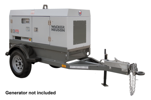 MGT1 Mobile Generator Trailer, No Brake, Pintle Hitch
