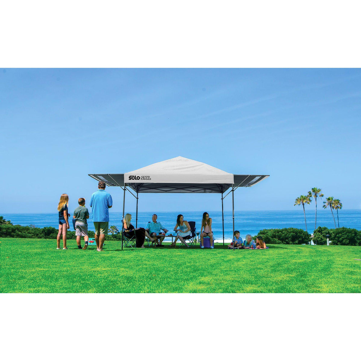 Quik Shade Solo Steel 170 10 x 17 ft. Straight Leg Canopy, White