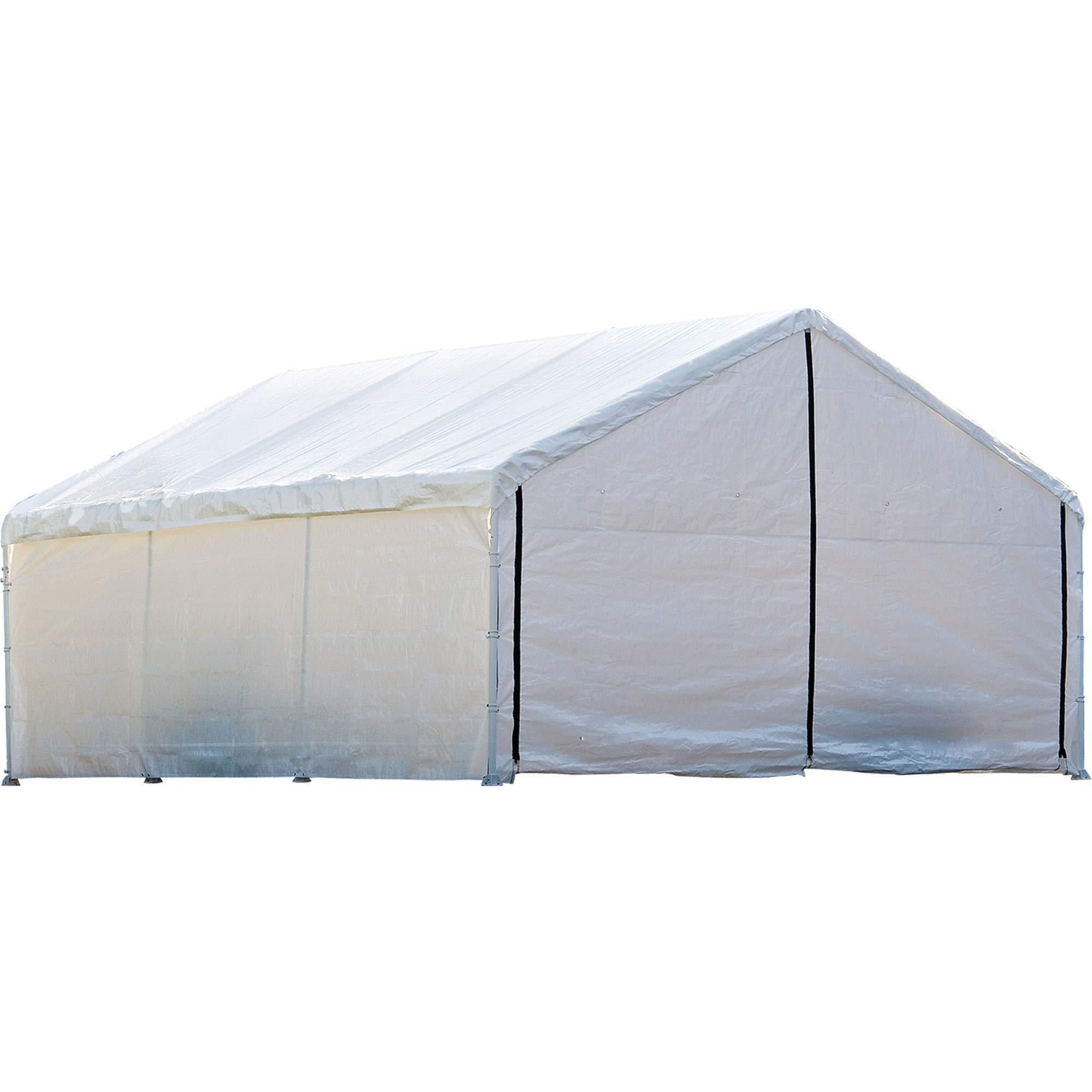 ShelterLogic SuperMax Fire Rated Canopy Enclosure Kit, 18  40 ft. (Frame and Canopy Sold Separately)