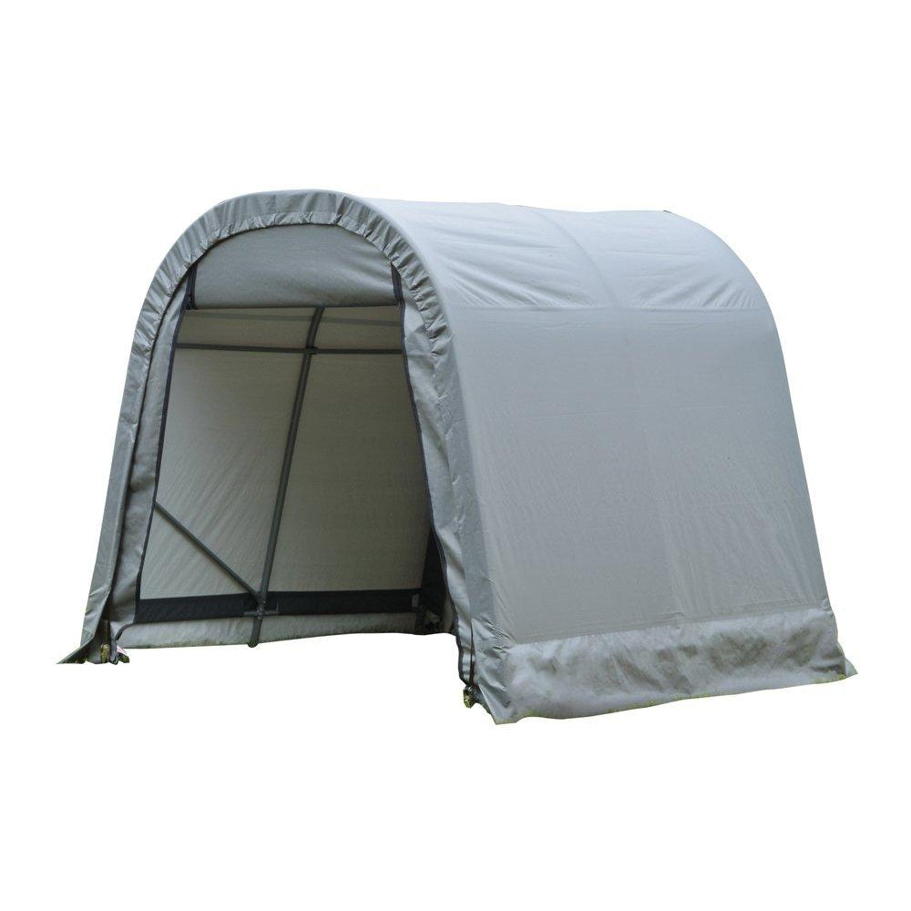 8x16x8 Round Style Shelter, Grey Cover