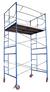 Contractor Scaffolds Outdoor Tower Set 10 Ft High (14 FT with guard rail) 7 Ft Long, 5 Ft Wide