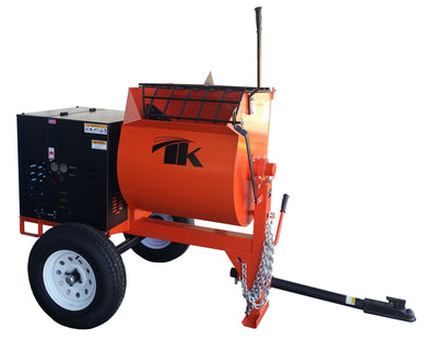 12 cu ft.0 Towable Steel Drum Concrete Cement Mortar Plaster Mixer W/ 5 HP Electric Engine