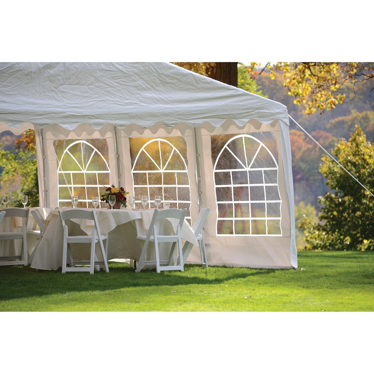 ShelterLogic Party Tent with Enclosure Kit, White, 10 x 20 ft.