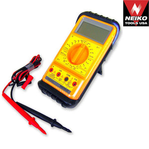 Handheld Pocket AC/DC Digital Multimeter Tester with Stand, Extra Large LCD Screen Display