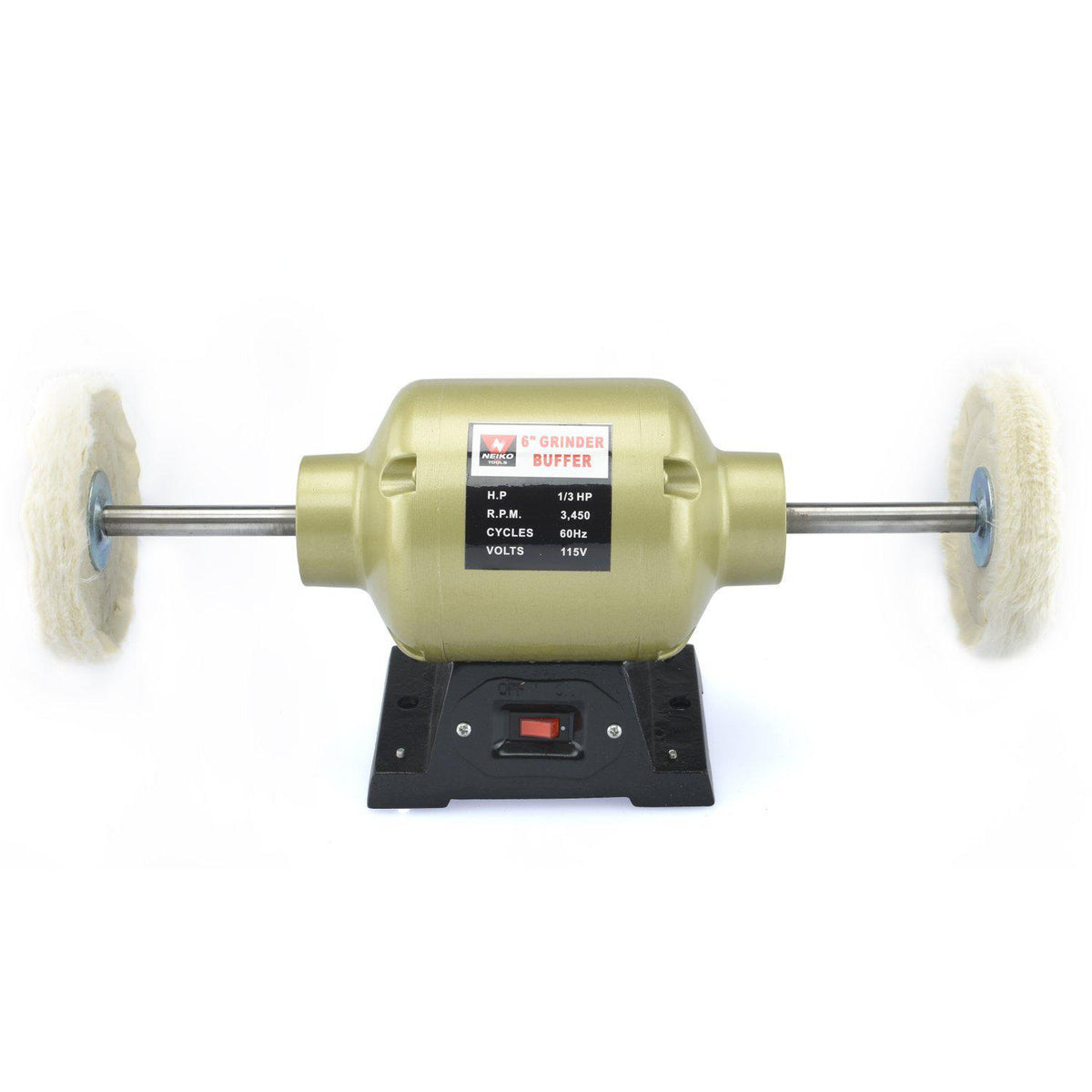 6 Quot Bench Grinder Buffer With 2 Buffing Wheels California
