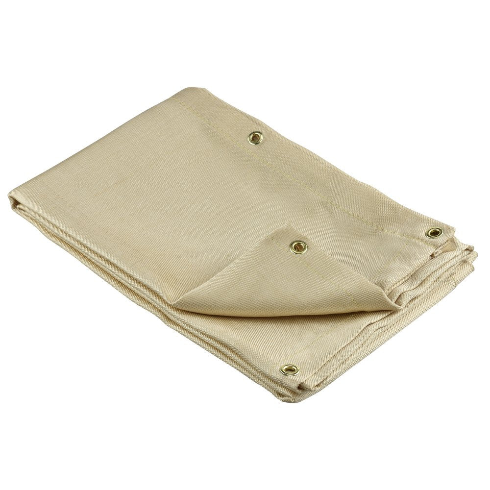 Heavy Duty Fiberglass Welding Blanket and Cover with Brass Grommets Size 6 FT x 8 FT