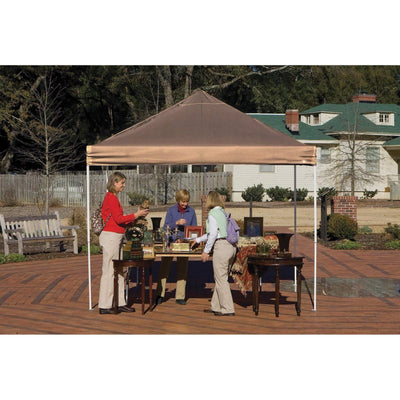 ShelterLogic Straight Leg Pop-Up Canopy with Roller Bag, 10 x 10 ft.