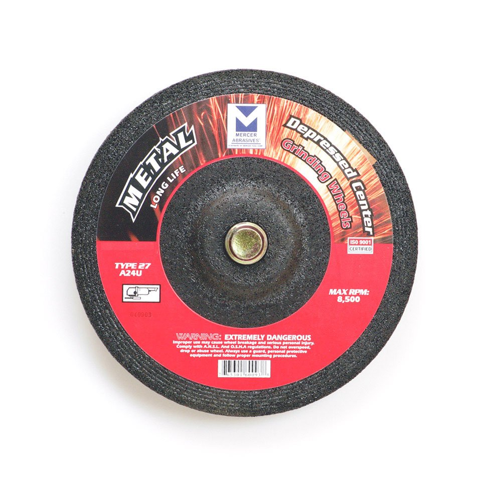 624020-25 Type 27 Depressed Center Grinding Wheels, 4-1/2 x 1/4 x/8-Inch, 25-Pack